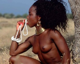 Naked nude African something