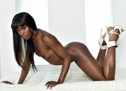 Long legs black pornstar Ana Foxxx..