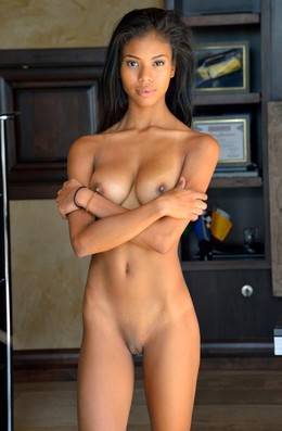 Perfect bodied young black babe Nia..