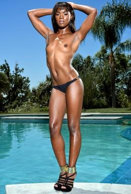 Slim negro nena Ana Foxxx desnuda..